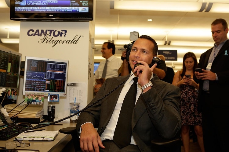 Alex Rodriguez on the phone doing business