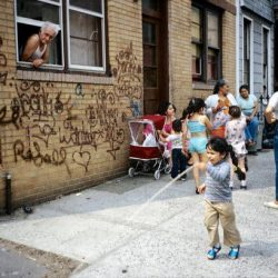 Vanessa Martir novelist pictured The author and her family at Palmetto Street in Bushwick, Brooklyn