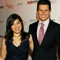 Silvio Horta pictured with America Ferrera on red carpet at Hollywood event