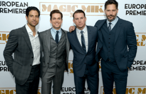 Adam Rodriguez poses with the Magic Mike XXL cast