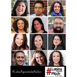 Grid photo of the twelve LatinxPitch authors