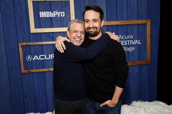 Luis and Lin-Manuel Miranda together at a premiere
