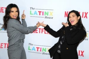 Eva Longorial and America Ferrera at Latinx event
