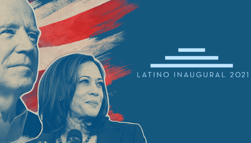 Latino Inaugural 2021 poster Biden and Harris