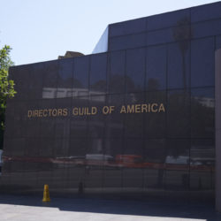 wall with directors guild of america building
