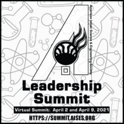 Flyer for the Leadership Summit with the website link to register and the date of the event
