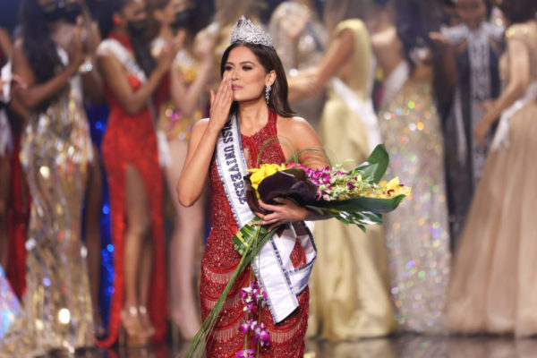 Miss Mexico Andrea Meza is crowned Miss Universe 2021 onstage at the Miss Universe 2021 Pageant at Seminole Hard Rock Hotel & Casino