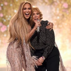 Jennifer Lopez and Mother performing at the VAX concert