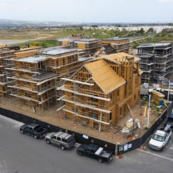homeownership growing. Single-family home under construction in the Cadence Park development of The Great Park Neighborhoods in Irvine, Calif., on April 14, 2021.