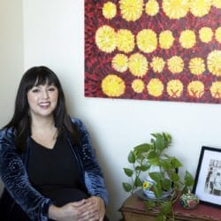 """Latina Historian Monica Muñoz Martinez, seen here in Austin, Texas, on Sept. 16, 2021, is among this year's recipients of the John D. and Catherine T. MacArthur Foundation's """"genius grants."""